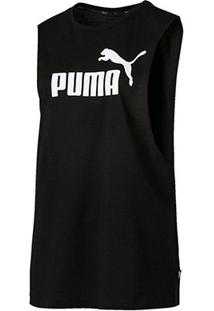 Regata Puma Essentials+ Cut Off Tank - Unissex-Preto