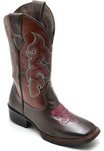 Bota Top Franca Shoes Country Feminino - Feminino-Café