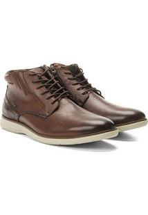 Sapato Casual Cano Alto Ferracini Trindade Masculino - Masculino-Caramelo