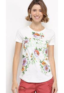 Camiseta Hapuna Day Dreaming Feminina - Feminino-Off White