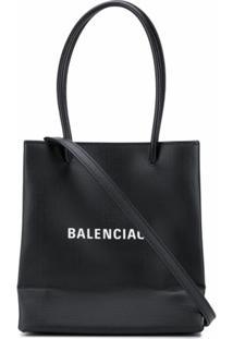 Balenciaga Bolsa Tote Shopping Xxs - Preto