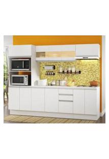 Cozinha Completa Compacta Madesa Smart Modulada Com Tampo E Balcão Branco Cor:Branco