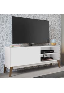 Rack Para Tv Até 52 Polegadas 1 Porta De Correr 0806 Branco - Genialflex