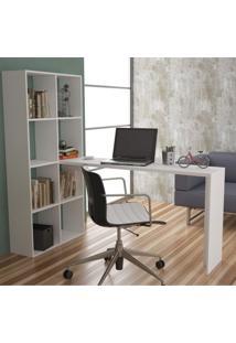 Escrivaninha Estante Be 38 Cube Brv Móveis Branco