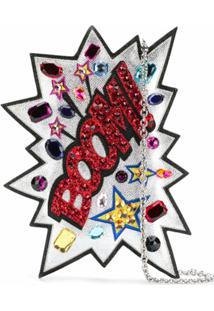 Dolce & Gabbana Clutch De Couro Com Aplicações - Metálico