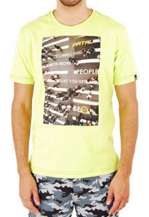 Camiseta Fatal Surf Urban Laranja