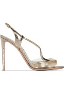 Nicholas Kirkwood Gold Curve Strap Leather Sandals - Dourado