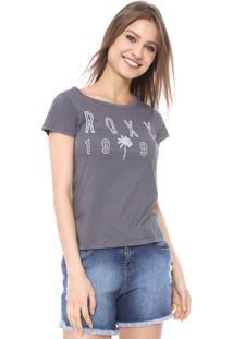 Camiseta Roxy Oh Shade Cinza