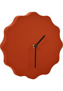 Relógio De Parede Dodeca Terracota