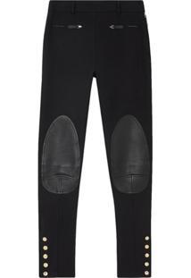 Burberry Calça Skinny Com Recortes - Preto
