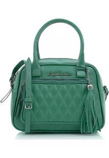Bolsa Matelassê Em Couro Verde