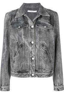 Givenchy Jaqueta Jeans Com Tachas - Cinza