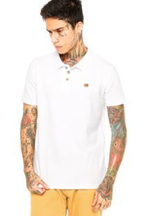 Camisa Polo Oakley Cross Slim Branca