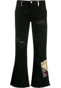 Alanui Calça Jeans Com Patch - Preto