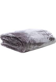 Cobertor Dove Casal- Cinza & Cinza Escuro- 180X220Cmsultan
