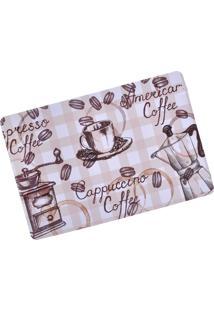 Tapete De Cozinha Digital Print 40Cm X 60Cm Café