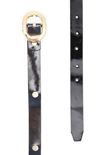 Cinto Corazzi Leather Deluxe Rebites Preto