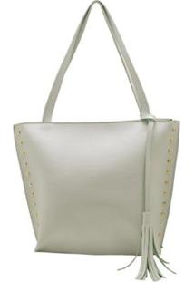 Bolsa Shopper D&R Shoes Feminina - Feminino-Branco