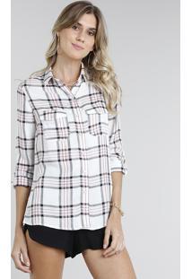 30b61d1d15 Camisa Viscose Xadrez feminina