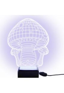 Luminária Acrilize Cogumelo Branca