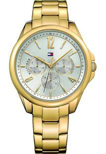 bda47647a3d Vivara Relógio Dourado Feminino Tommy Hilfiger Aço - 1781833