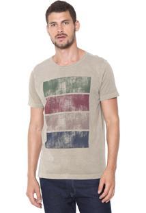 Camiseta Aramis Textura Colorida Bege
