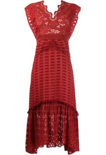 Three Floor Vestido Blaze - Vermelho