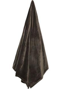 Cobertor King Size Velour Marrom (240X260Cm)