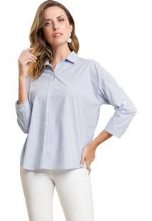 Camisa Mx Fashion Listrada Gianluca Azul