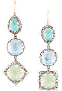 Larkspur & Hawk Long Drop Earrings - Azul