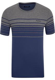 Camiseta Listradora Azul Índigo