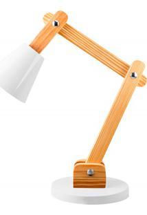 Luminária De Mesa Para 1 Lâmpada Bivolt Cone Branca
