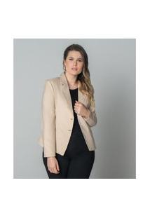 Blazer Alfaiataria Feminino Plus Size Secret Glam Cinza