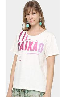 Camiseta Farm Desejo Paixão Feminina - Feminino