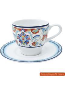 Jogo Para Café Com 12 Peças L Hermitage Colorido 140 Ml