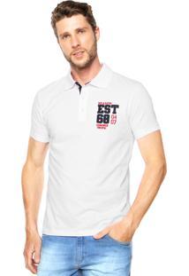 Camisa Polo Malwee Slim Branca