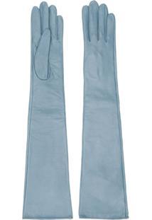 Manokhi Par De Luvas Longas Texturizada - Azul