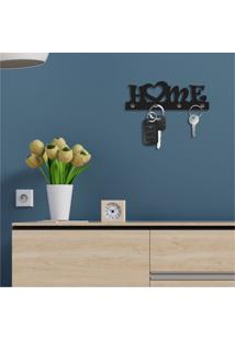 Porta Chaves Decorativo Em Mdf Home Único