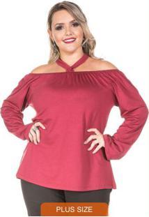 Blusa Ciganinha Vermelha Plus Size