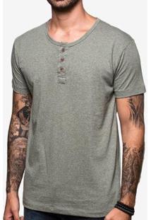 Camiseta Hermoso Compadre Henley Green - Masculino-Verde