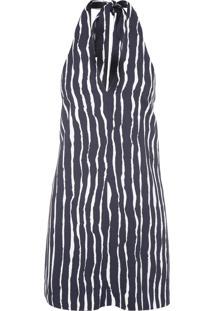 Vestido Frente Única Listra - Preto