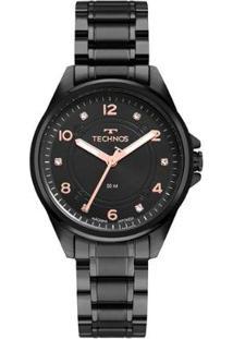 Relógio Technos Elegance 2035Mro4P Feminino - Feminino-Preto