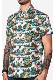 Camisa Hermoso Compadre Pinup Masculina - Masculino