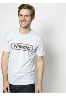 """Camiseta """"Wranglerâ®""""- Azul Claro & Pretawrangler"""