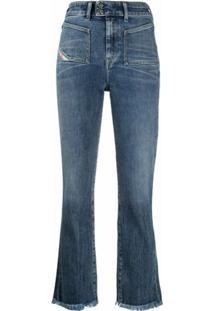 Diesel Calça Jeans Flare Cintura Alta - Azul