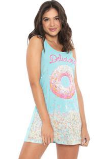 Camisola Malwee Liberta Curta Donuts Azul