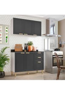 Cozinha Compacta Nevada V 5 Pt 3 Gv Grafite E Branca