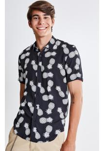 Camisa Estampada Abacaxi