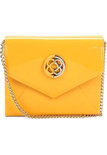 Bolsa Transversal Petite Jolie Flap Express Feminina - Feminino-Amarelo
