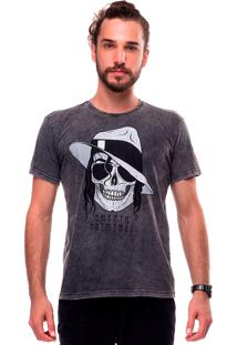 Camiseta Estonada Skull Jackson Liverpool Preto